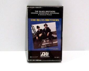 Blues Brothers Vintage Cassette Tape 1980 John Belushi Dan Aykroyd Original Soundtrack Recording Saturday Night Live Comedy Funny Gag Gift