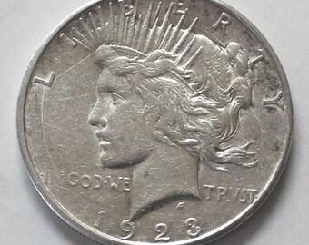 1923-D Peace Dollar Coin  - sku 584