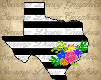 Texas Svg, Texas silhouette svg, texas floral swag svg, texas floral svg, silhouette, cricut, digital file, cut file, floral swag svg