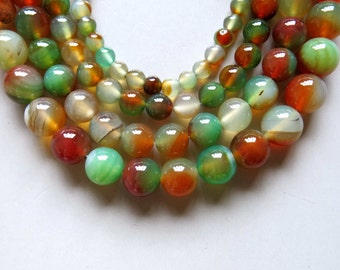 Full Strand 15inches Agate Round Beads - A508