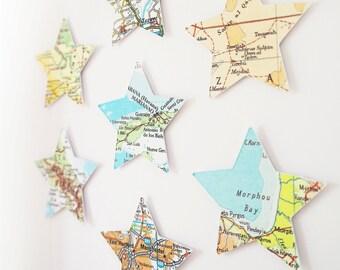 World Map Art / Romantic gift for Traveller / Gift for Jet Setter / Gift for husband / Vintage Maps / Romantic gift idea / Custom gift