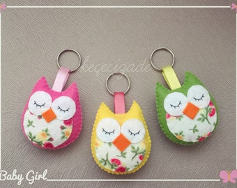 5 PCS Handmade Colorful Felt Owl Magnets for Decoration, nursery baby room, baby shower gifts, ornaments