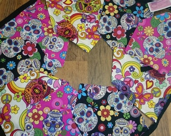 Mexican Sugar Skulls / Day of the Dead /  Calavera Bunting