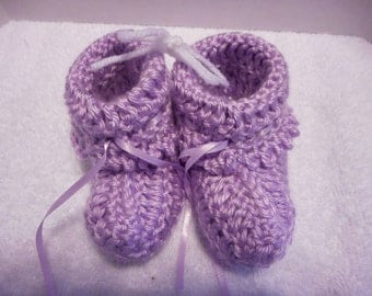 Orchid Baby Booties