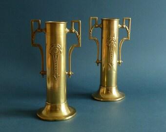 Art Nouveau-jugendstil  Pair of Vases