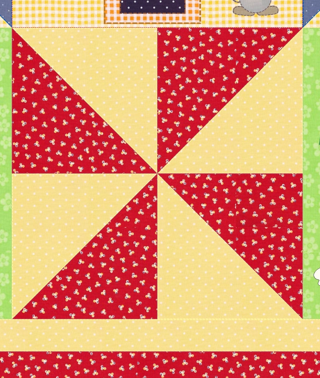Rhyme Time Crib Quilt Pattern KinderGarden Designs