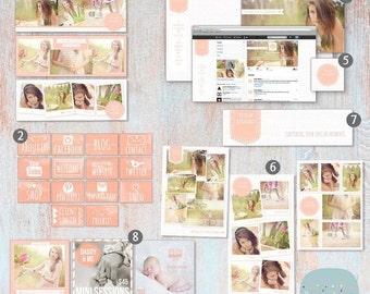 SALE NOW ON Online Marketing Set - Online branding- Twitter/Instagram/Pinterest - Lg003 - Instant Download