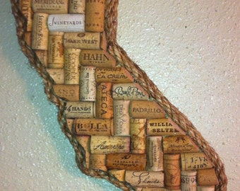 California  (or any State) Wine Cork Art