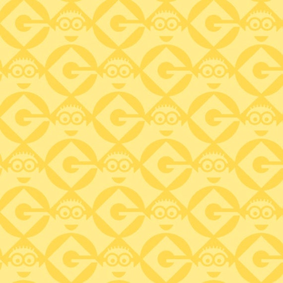 One in a Minion - Blender Yellow Minions Fabric