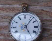 Vintage ladies silver swiss made pocket watch