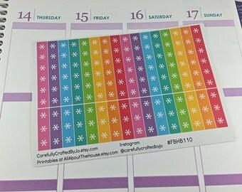 Rainbow Asterisk Checklist Planner Stickers - Checklist, Tracker, Life Planner, Kikki K, Erin Condren, Plum Paper, MAMBI, planner accessory