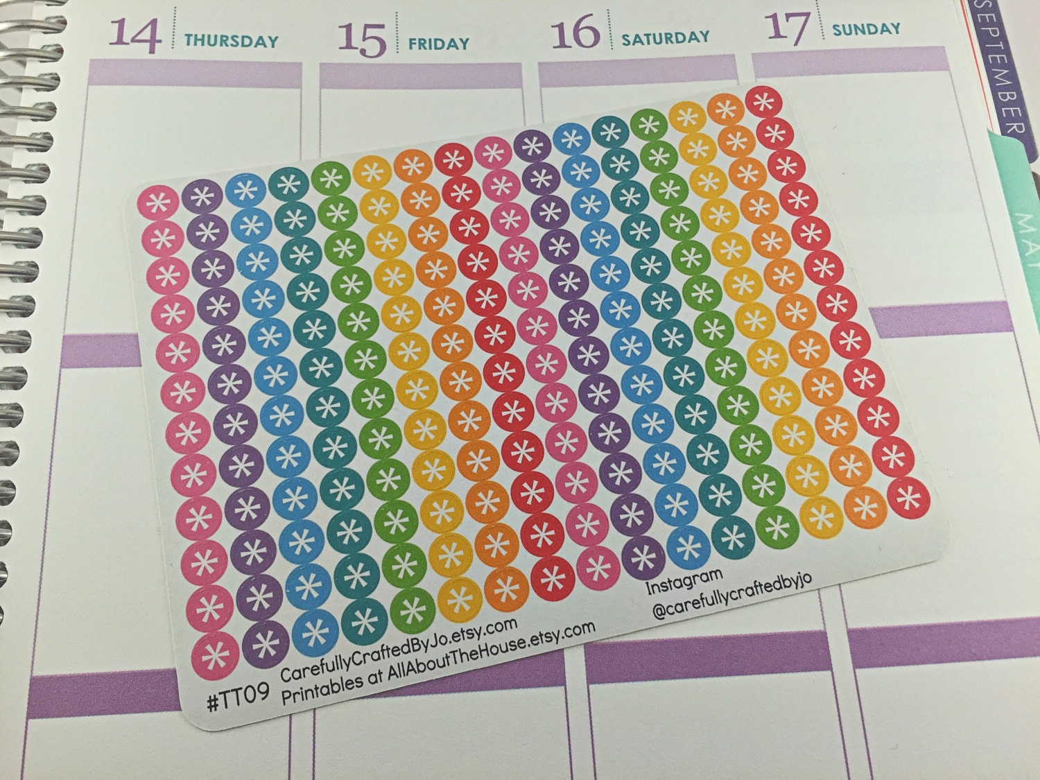 asterisk planner stickers, rainbow, eclp, vertical, reminder, important, note, urgent, don't forget, icon, to do, task, list, checklist, happy planner