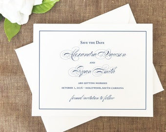 Classic Script Save the Date, Formal Wedding Save the Date