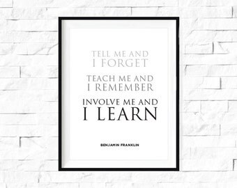 Involve me and I learn