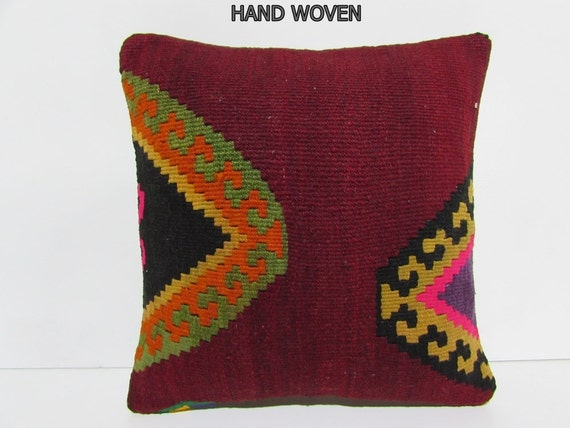 Navajo Kilim Pillow Couch Throw Pillow By Decolickilimpillows