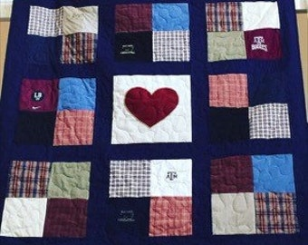 Memorial quilt / patchwork with sashing