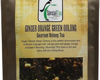 Ginger Orange Green Oolong Tea, 20 Tea Bags