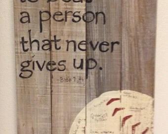 Hand painted wooden baseball sign, Sports Sign, Coach's Gift, Basketball, Soccer, Baseball, Tennis