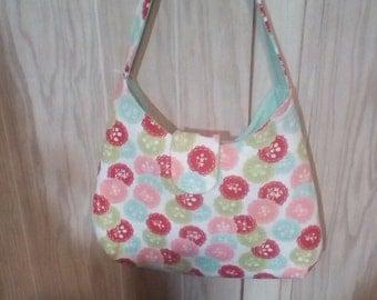 Designer fabric handbag