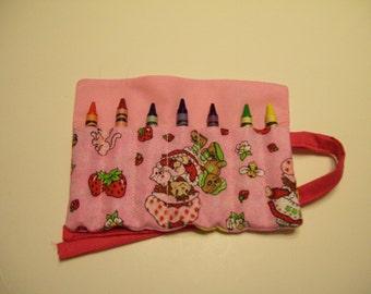 Strawberry Shortcake Crayon Roll