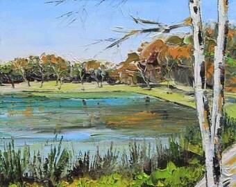 California Art, Landscape Painting, Silicon Valley, San Francisco Bay, California Painting, Vasona Park, Los Gatos, 11x14, Landscape Artwork