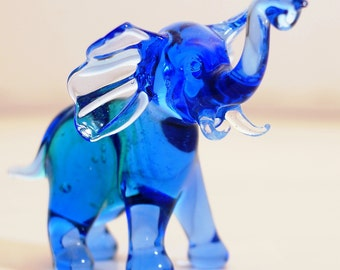 Elephant - a glass figurine.