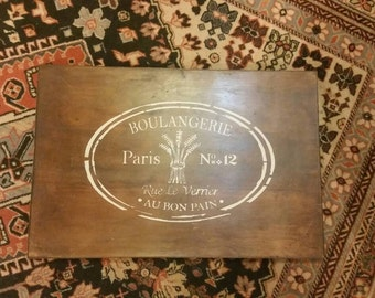 Hand Stenciled Serving Tray