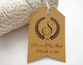 Wedding Favor Tags, Hang Tags, Personalized Wedding Tags, Custom Thank You Tags, Country Wedding, Rustic Wedding, Trending Set of 50