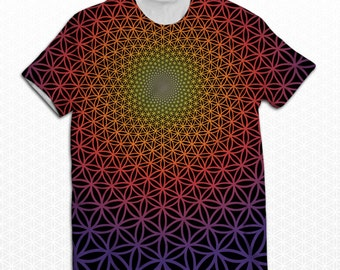 "Sacred Geometry ""Flower of Life Vortex 2.0"" Sublimation Shirt"