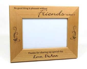 best friends picture framepersonalized picture frameengraved picture framewood picture frame