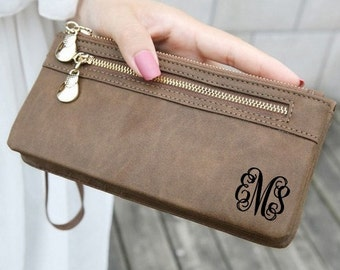 womens wallet, monogram clutch, leather wallet, personalized wallet, personalized womens wallet, mothers day, christmas, women's wallet