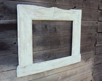 Old wooden picture frames, mirror frames, ShabbyChic 95 x 76