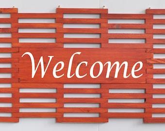 Wooden Welcome Mat, Wooden Door Mat, Personalized Doormat, Unique Home Gift