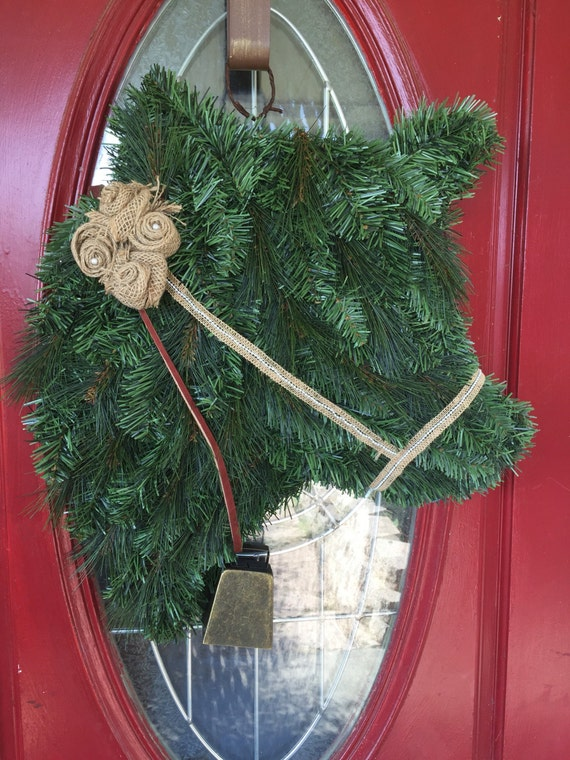 Burlap And Bell Cow Wreath
