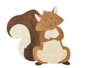 Squirrel Wall Decal - Squirrel Watercolor Fabric Wall Decal