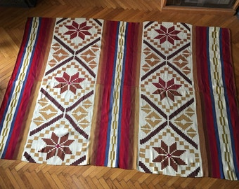 vintage hand woven rug, kilim 235x160cm (92.5x63inches)