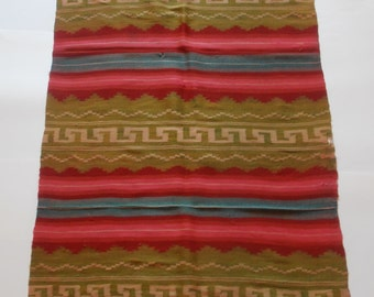 vintage hand woven rug, 215x84cm (84.6x33inches)