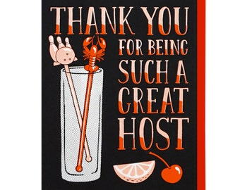 Thank You Host Screen Printed Card