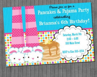 Pancakes and Pajamas Invitations-V2