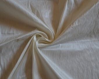 Ivory Art Silk Dupioni -Ivory Faux Silk -We Take Wholesale Fabric Orders -1 Yard -Canary YellowDress Material