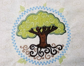 MACHINE EMBROIDERY FILE - Tree Of Life Applique