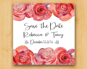 Save the Date Labels | 2 Inch Square Labels | Thank You Labels | Wedding Labels | Bridal Label
