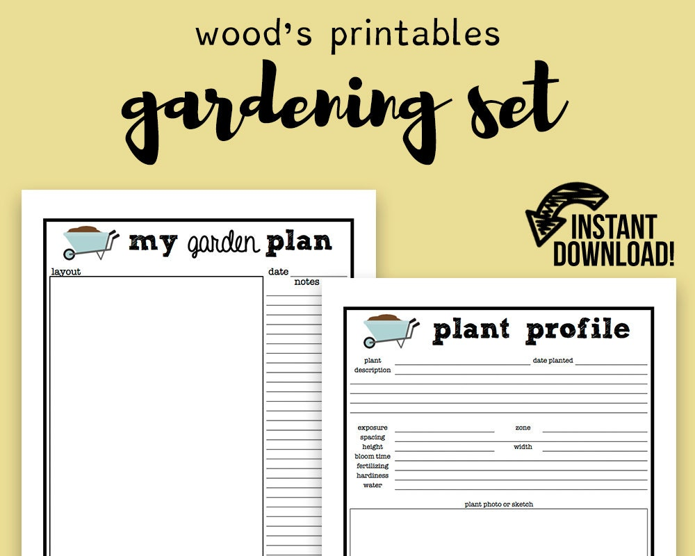 It's just a photo of Canny Printable Garden Planner