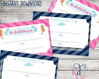 Prep School Notebook Labels  - Printable | Instant Download