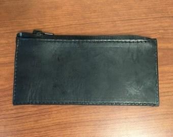Black Horween Zipper Wallet