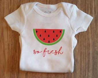 SO fresh. Newborn Onesie. Summertime Onesie. Take home outfit. Watermelon.
