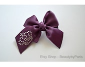 Royal Rhinestone Dog Bow- You Choose Ribbon Color!