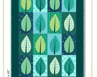 Nancy Rink Designs City Leaves 31 x 43 Quilt Pattern Free Ship