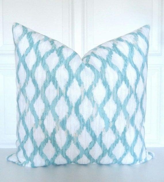 Seafoam Blue Decorative Pillows : Seafoam Green Pillow Cover Decorative Pillow by Pookadellas