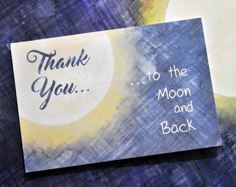 Fly Me To the Moon Thank You Card